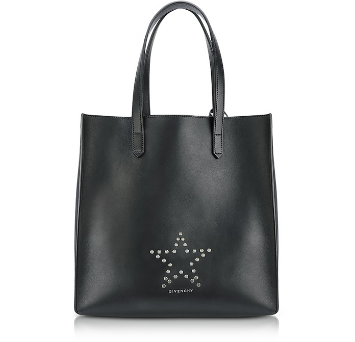 0aeb649537bf Givenchy Stargate Medium Black Leather Tote Bag at FORZIERI Australia