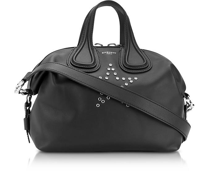 Nightingale w/Stars Black Leather Satchel Bag - Givenchy