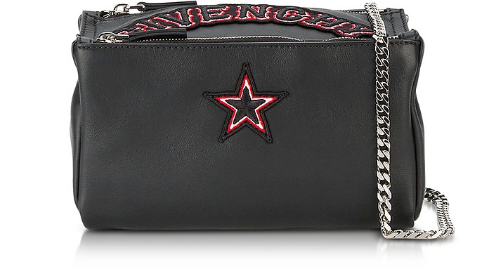 91b18fd6d13 Givenchy Pandora Chain Black Leather Crossbody Bag at FORZIERI