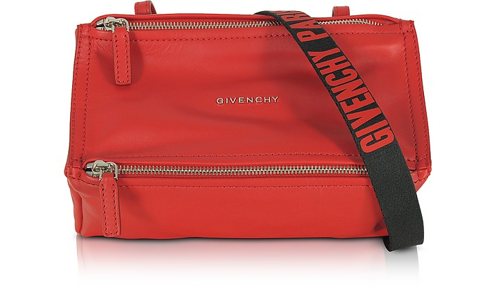 0e1e80e0ff Givenchy Pandora Mini Red Leather Crossbody Bag at FORZIERI