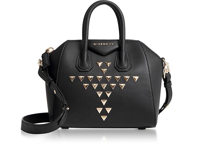 696b8b045d Givenchy Studded Black Mini Antigona Satchel Bag at FORZIERI