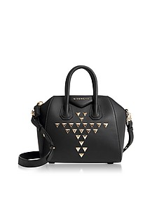Studded Black Mini Antigona Satchel Bag - Givenchy