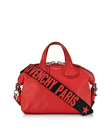 Red Leather Small Nightingale Satchel Bag - Givenchy
