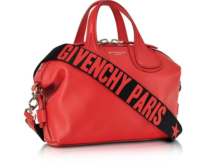 À Main Forzieri Givenchy Cuir En Petit Nightingale Sac Sur Rouge kZuPXi