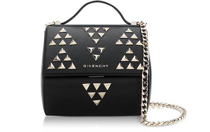 Black Pandora Chain Mini Shoulder Bag w/Studs - Givenchy