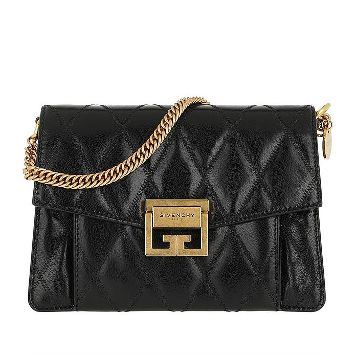 3b558207ee Givenchy Small GV3 Bag Diamond Quilted Leather Black at FORZIERI