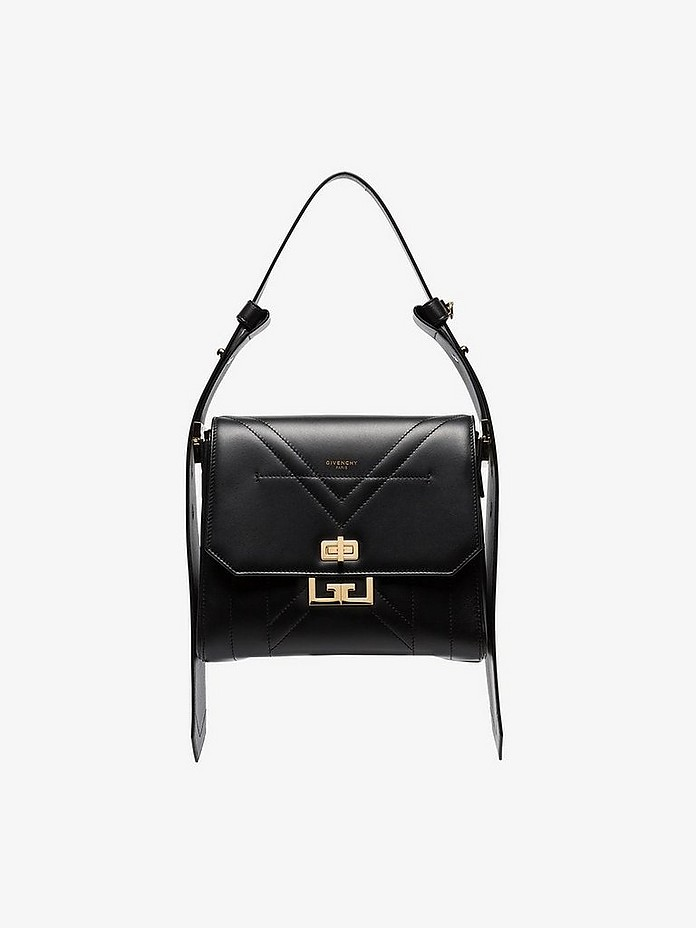 Black eden medium leather shoulder bag - Givenchy