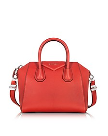 Antigona Small Red Leather Satchel Bag - Givenchy