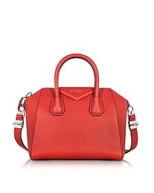 Antigona - Petit Sac à Main en Cuir Rouge - Givenchy