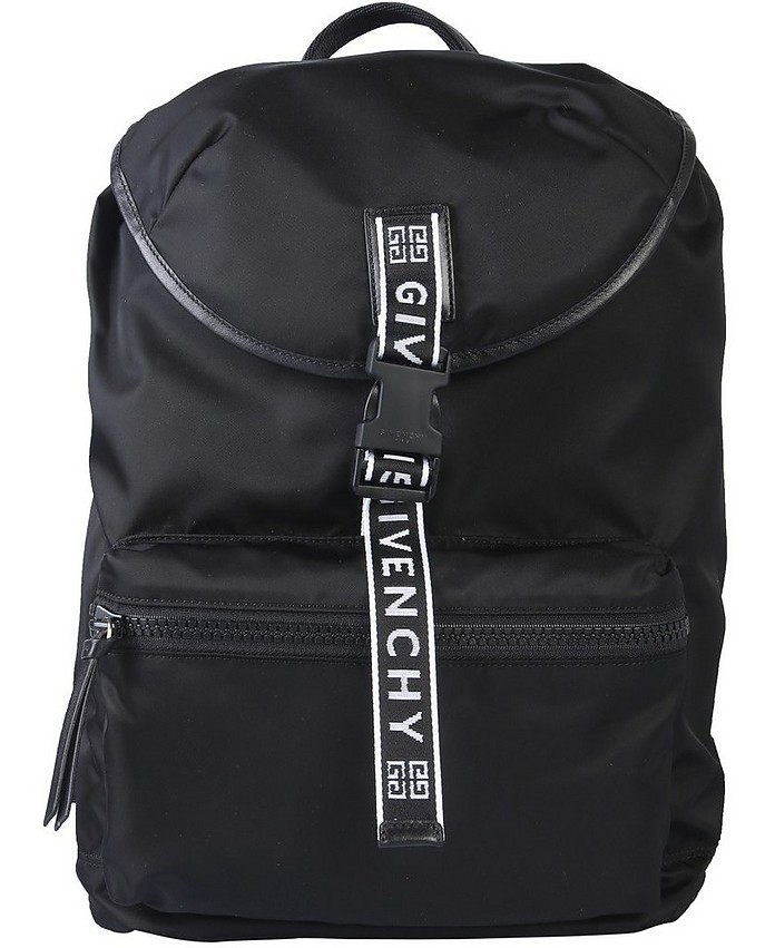 Black Nylon Backpack w/Web Canvas Shoulder Strap - Givenchy