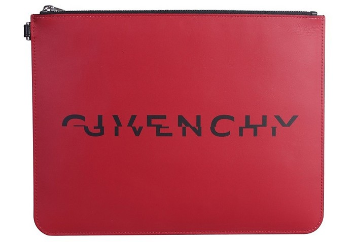 Red Signature Clutch - Givenchy