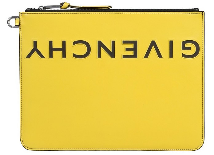 Clutch With Rough Logo - Givenchy