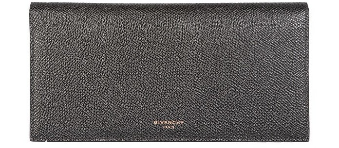 Long Leather Men's Wallet w/Zip Pocket - Givenchy
