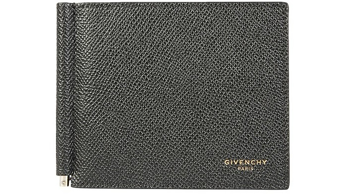 Black Front Logo Men's Wallet w/Clip - Givenchy