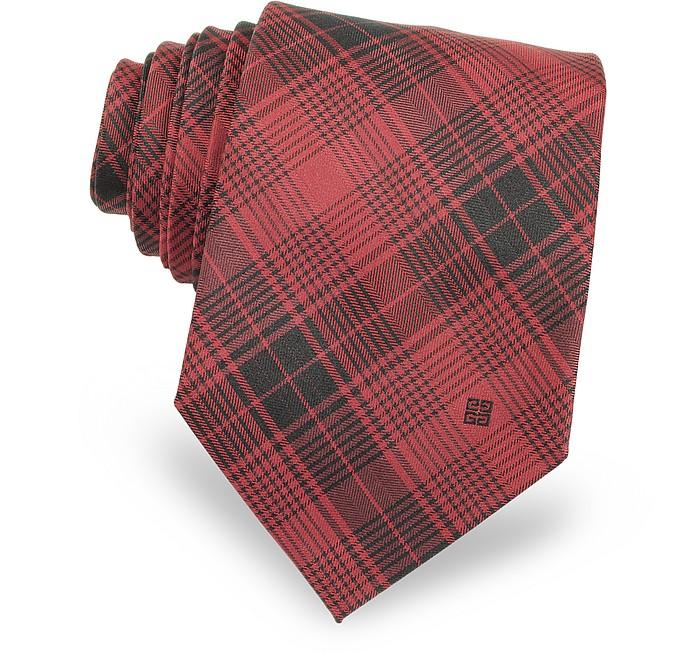 Tartan Woven Silk Narrow Tie  - Givenchy