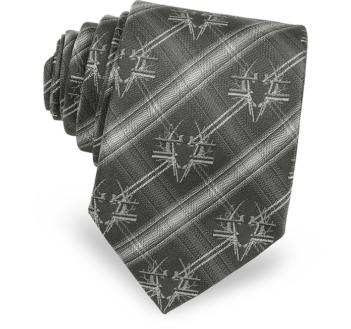 Bug Crest Woven Silk Narrow Tie - Givenchy