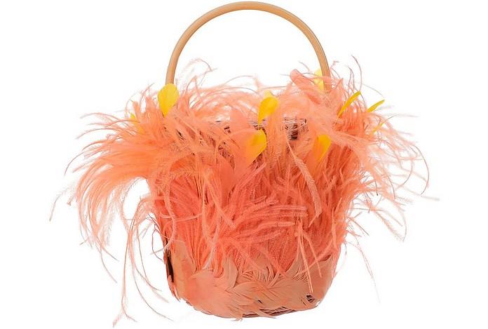 Pink & Orange Feathers Tweety Bag - Gatti