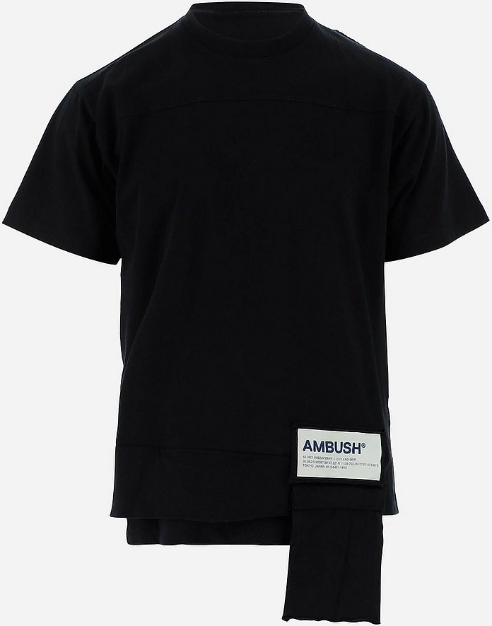 Black Cotton Men's Shortsleeves T-shirt - Ambush
