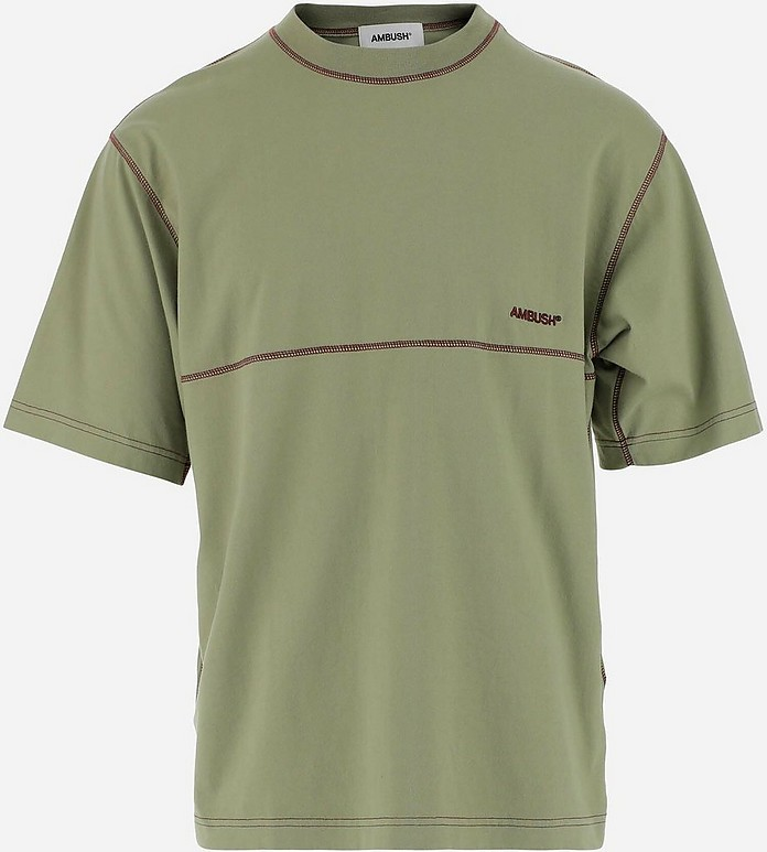 Sage Green Cotton Men's Shortsleeves T-shirt - Ambush