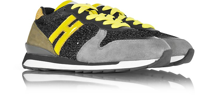 Hogan Rebel Running R261 Yellow Patent Leather 687d32bf35a