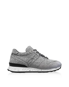 Running R261 Gray Felt and Suede Sneakers  - Hogan