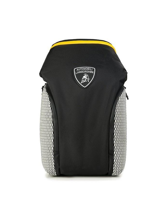 Galleria Black Nylon Men's Zip Top Backpack - Lamborghini Automobili