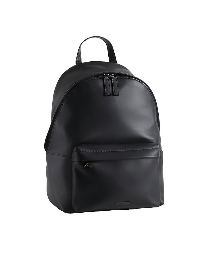 LMBG7 Black Leather Men's Backpack - Lamborghini Automobili