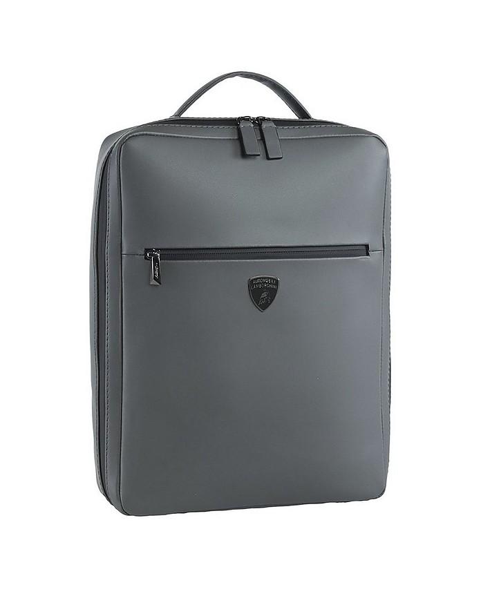 LMBG1 Gray Leather Men's Backpack - Lamborghini Automobili