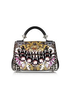 Crazy Jungle Leather Small Roar Handbag