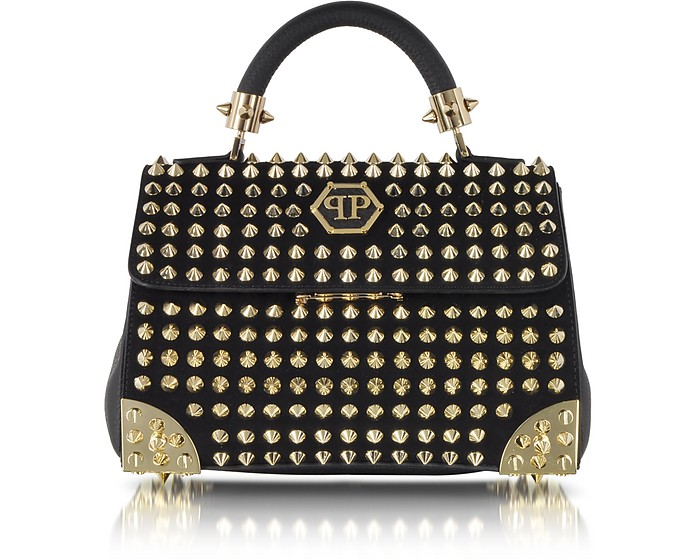 Black Leather Small Weapon Handbag - Philipp Plein