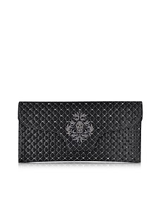 Black Quilted Noble Clutch