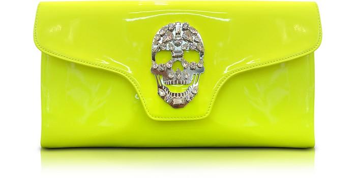 Crazy Skull Leather Clutch - Philipp Plein