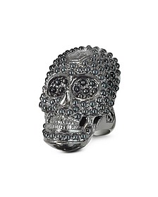 Skull Light Black Women's Ring