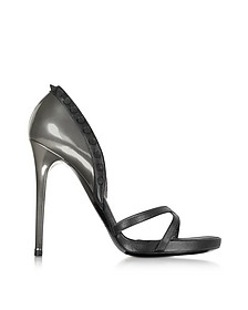 High Heel Pointed Leather Sandal