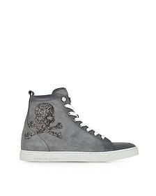 Skulls Grey Suede w/Crystals Sneaker