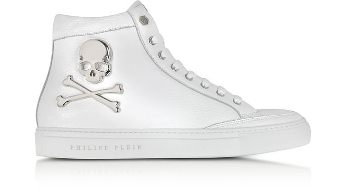 new york 196c4 51313 Philipp Plein Without it White Leather Men's Sneaker