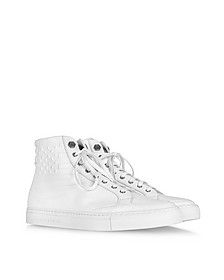 White Leather Celebration Sneaker w/Stars