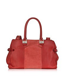 Augusta Leather and Suede Tote
