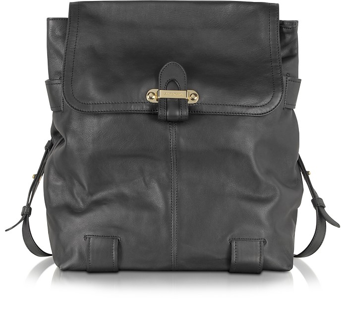 Mallow Black Leather Backpack - See by Chloé