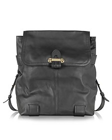 Mallow Black Leather Backpack