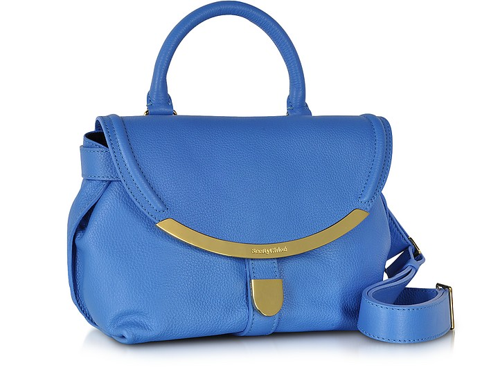 See by Chloé Californian Blue Lizzie Small Satchel Bag at FORZIERI ac2fd12087c