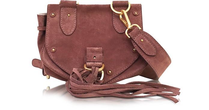 eeae51da560e See by Chloé terracotta Collins Small Suede Crossbody Bag at FORZIERI