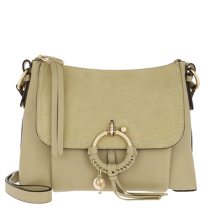 Joan Shoulder Bag Suede Foamy Green - See by Chloé