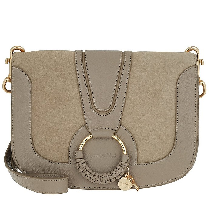 Hana Crossbody Bag Leather Motty Grey - See by Chloe / シー バイ クロエ