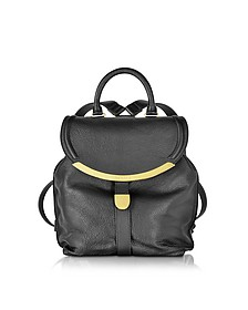 Lizzie Black Leather Backpack