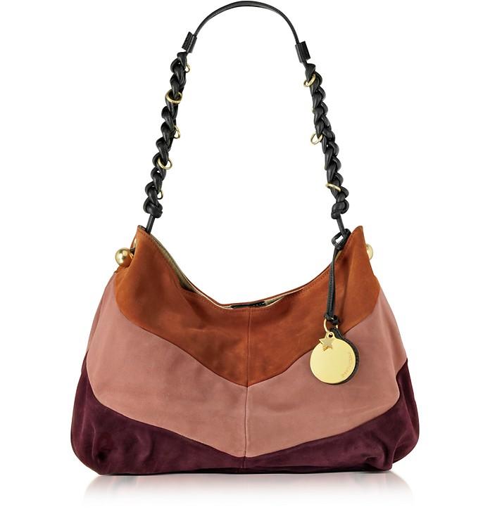 Madie Multicolor Suede Hobo Bag - See by Chloé