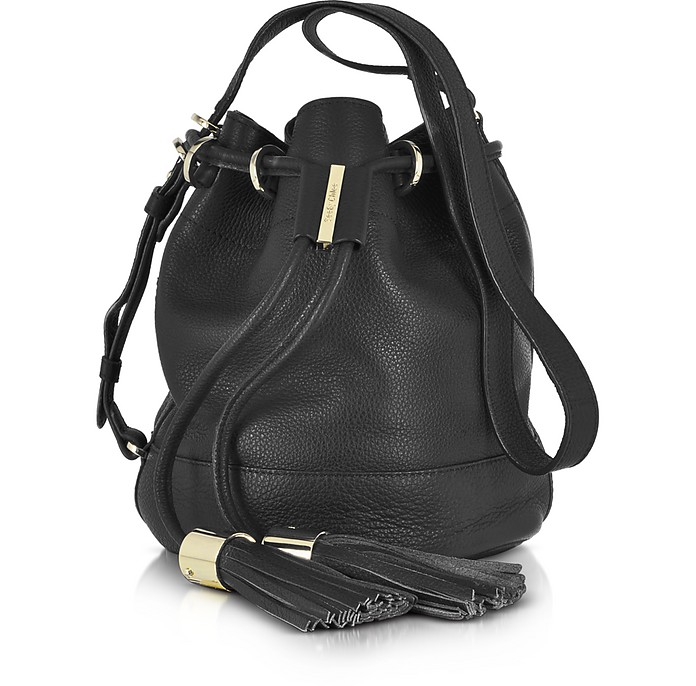 10a222b39bd72 See by Chloé Vicki Black Leather Small Bucket Bag at FORZIERI