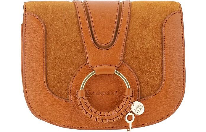 Brown Leather Hana Shoulder Bag - See by Chloé