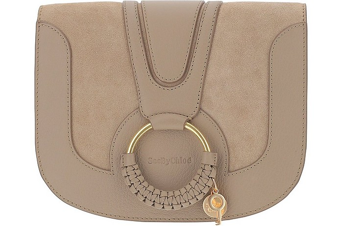 Grey Leather Hana Shoulder Bag - See by Chloé