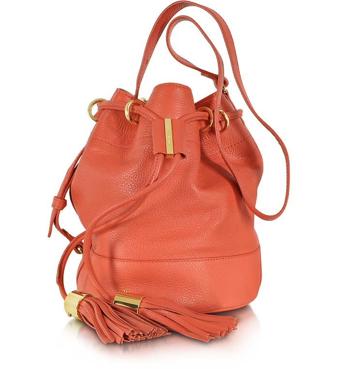 Vicki Grained Leather Small Bucket Bag - See by Chloé
